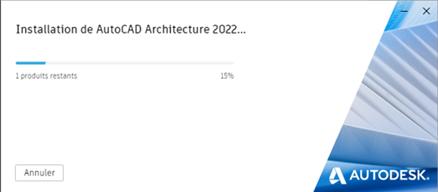 installation de autocad architecture 2022